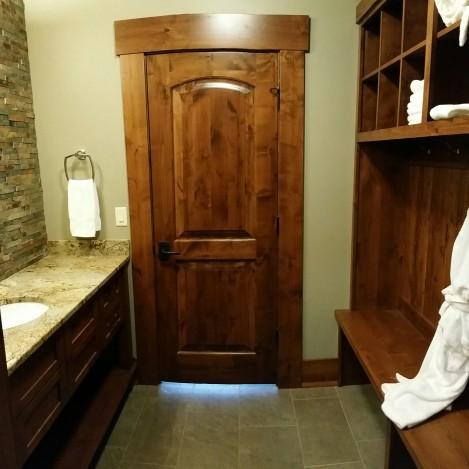 Bathroom Bench and Modern Open Shelf Vanity