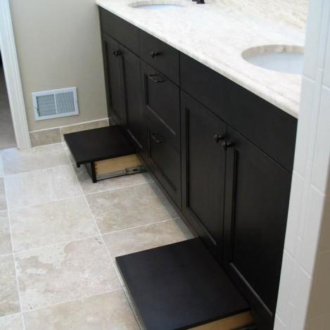 Black Painted Toe-kick step vanity