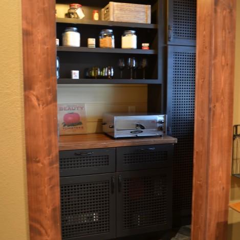 Basket weave pantry - wood top