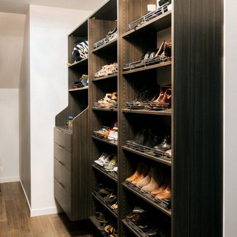 Gregio Notte Melamine Closet Organizer