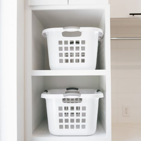laundry basket storage tower